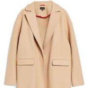 Topshop Jackets Coats Lily Knit Back Midi Coat Poshmark